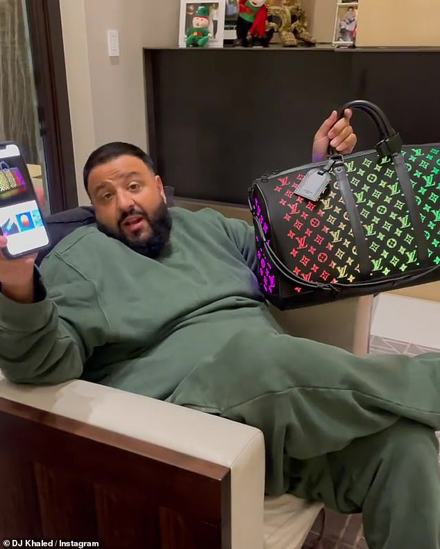 Social media: The 45-year-old music producer posted a video of about 22.8 million followers of the luxury bag that debuted on the Louis Vuitton Men's Fall / Winter 2019 Runway