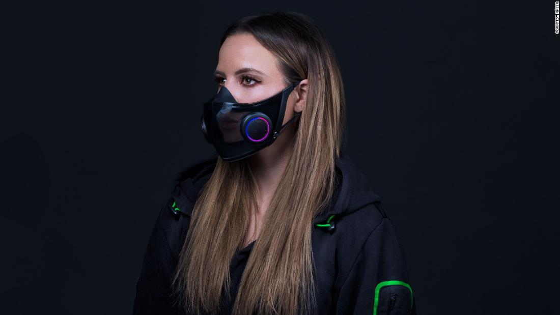 Razer's reusable face mask breathes the air and amplifies your voice