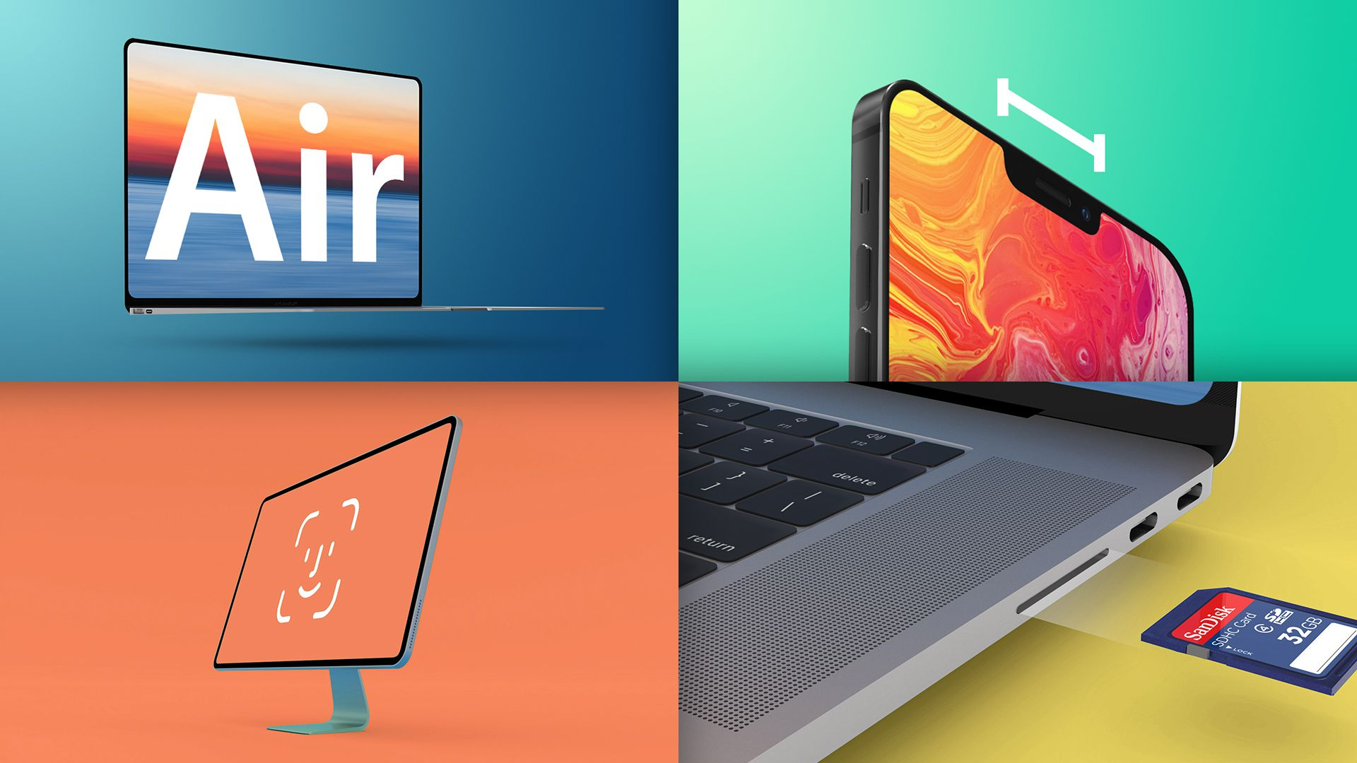 Headline news: MacBook Air is 'thinner and lighter', iPhone 13 is smaller, iOS 14.4 in