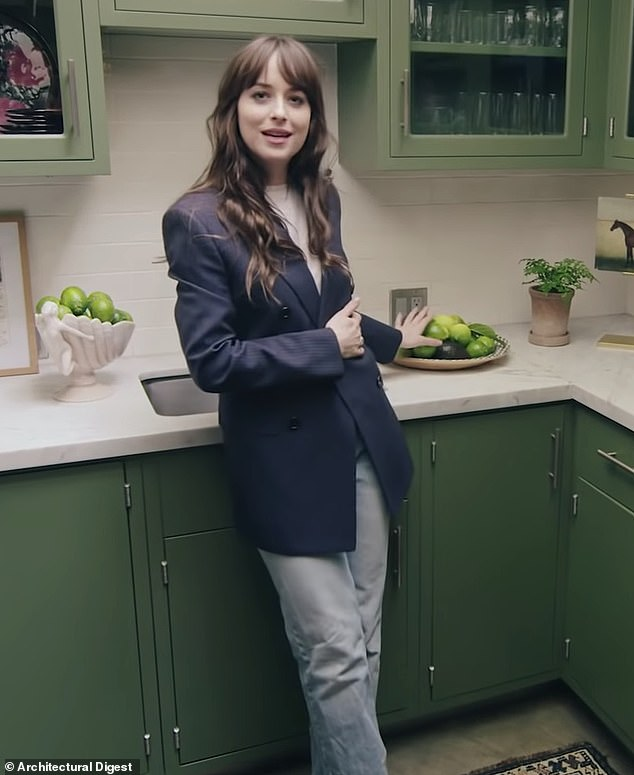 Not a fan of lemons: Dakota Johnson admitted she lied during her Architectural Digest home tour last year on a Tuesday night episode of The Tonight Show starring Jimmy Fallon
