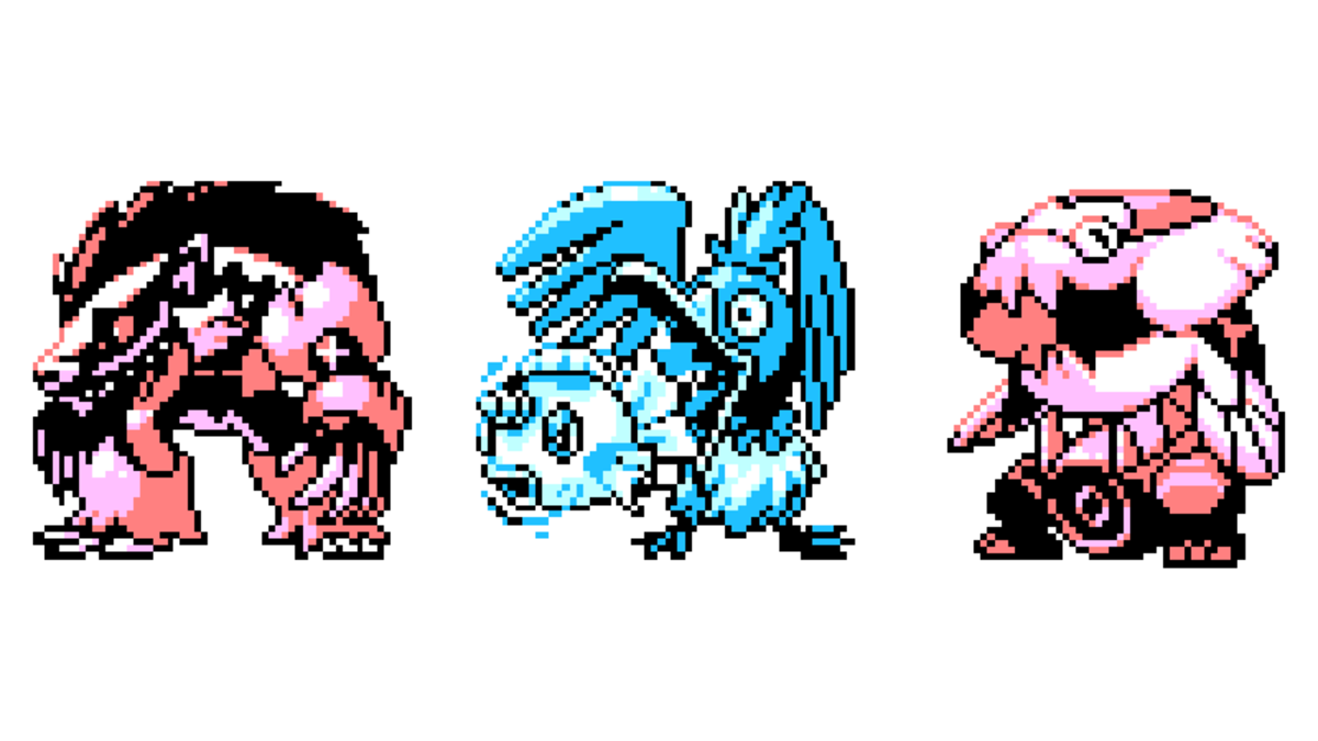 Pixel Artist visualizes a modern Pokemon with Game Boy graphics