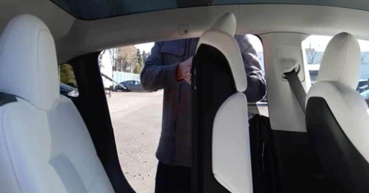 Tesla released a video of the third row of the Model Y but doesn't show a person sitting in it