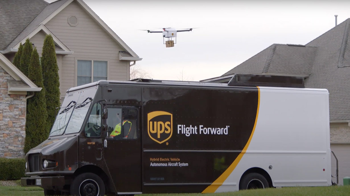 Verizon, UPS and Skyward announced the delivery of connected drones at CES 2021